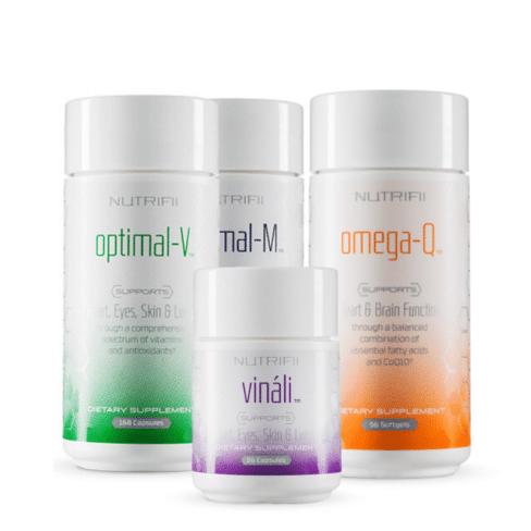 nutrifii optimaal gezondheidspakket - vinali - optimal-v - optimal-m - omega-q