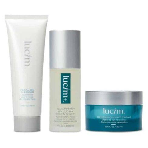 Pack Lucim - Gel NEttoyant Visage + skincerity + crème de nuit rénovatrice - ariix