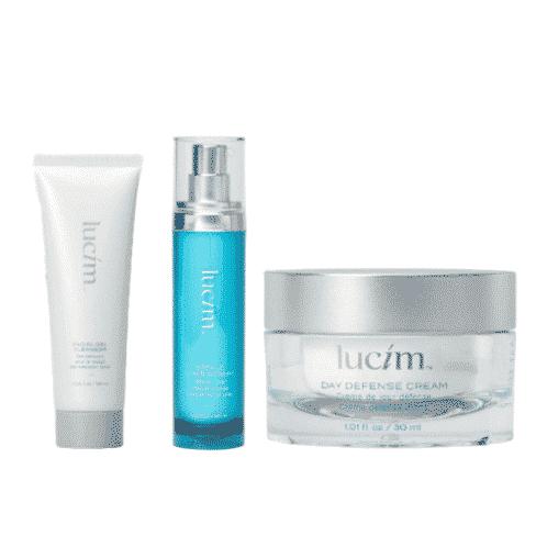 pack lucim : gel nettoyant visage + sérum total visage + crème jour défense - ariix
