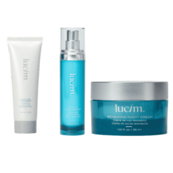 Pack Lucim : gel nettoyant + sérum total visage + crème nuit rénovatrice - ariix