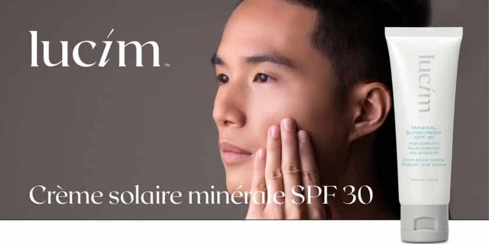 crème solaire minérale lucim - protection 30
