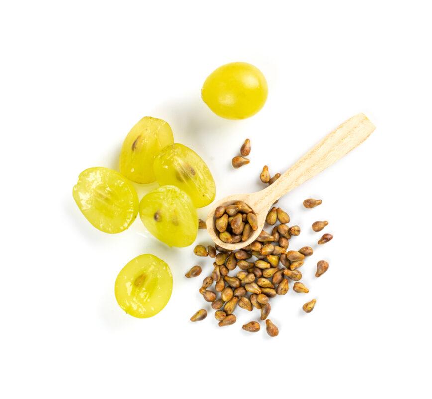 photo de raisin et de pépins de raisins
